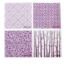 "Crafter's Companion 6"" x 6"" Background Emboss Folders - Set of 4"