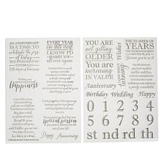 Crafter's Companion Anniversary Verse Stamps with Panels