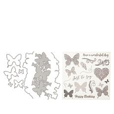 Crafter's Companion Chloe Cut On Edge Butterfly Dies and Stamps