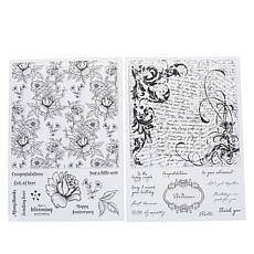 Crafter's Companion Floral Clear Background Stamp