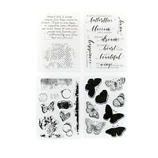 Crafter's Companion Flutterby Stamps Set of 4