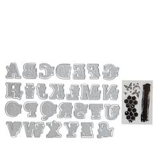 Crafter's Companion Gemini Butterfly Uppercase Alphabet Stamps & Dies