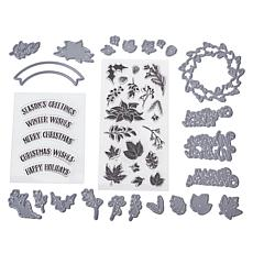 Crafter's Companion Gemini Christmas Wreath Stamp and Die Set