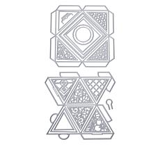 Crafter's Companion Gemini Faceted Favor Box Dies 2-pack