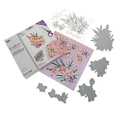 Crafter's Companion Gemini Lilly Decoupage Stamp and Die Set