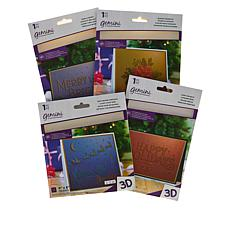 Crafter's Companion Merry and Bright 3D Embossing Folders