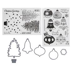Crafter's Companion Modern Christmas Layered Stamp and Die Set