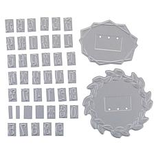 Crafter's Companion Modern Monogram Letters Foil Stamp Dies