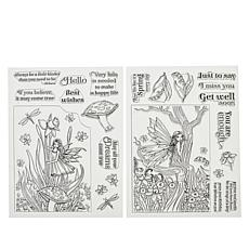 Crafter's Companion Molly Harrison Clear Stamps - Garden of Wishes