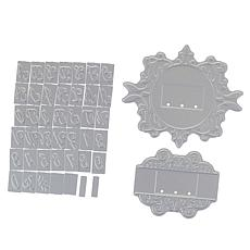 Crafter's Companion Ornate Monogram Letters Foil Stamp Dies