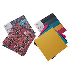 """Crafter's Companion Pearlescent & Print 12"""" x 12"""" Paper Pads Set of 2"""