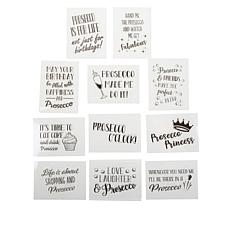 Crafter's Companion Prosecco Quirky Sentiment Clear Stamps