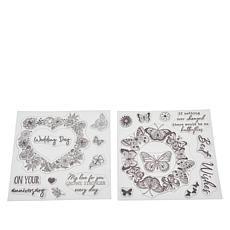 Crafter's Companion Rose and Butterflies Aperture Stamps