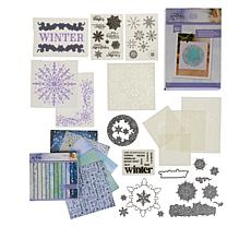 Crafter's Companion Sara Signature Glittering Snow Papercraft Bundle