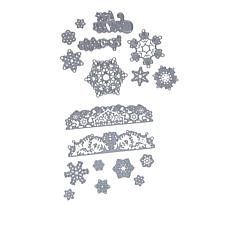Crafter's Companion Sparkling Snowflakes Gemini Elements Die Sets