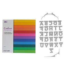 Crafter's Companion Top Cut Alphabet Dies and Paper Pad