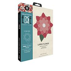 Crafter's Edge Large Flower 5-piece Fabric Die Set