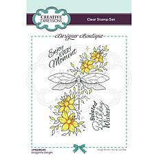 Creative Expressions Boutique Collection Dragonfly Delight A6 Stamp