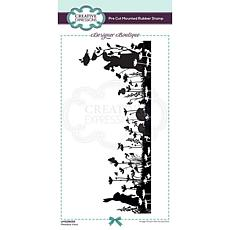 Creative Expressions Boutique Meadow View DL Pre Cut Rubber Stamp