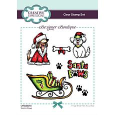 Creative Expressions Designer Boutique Santa Paws A6 Clear Stamp Set