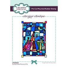 """Creative Expressions Designer Stained Glass Precious Gifts 6""""x4"""" Stamp"""