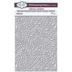 """Creative Expressions Fanciful Flowers 5.34""""x7.12"""" 3D Embossing Folder"""