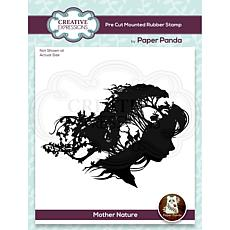 """Creative Expressions Paper Panda Mother Nature 4.8""""x4.3"""" Rubber Stamp"""