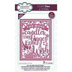Creative Expressions Sue Wilson All In One More Candles Craft Die