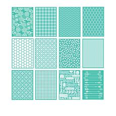 "Cricut® Cuttlebug™ 12-piece 5"" X 7"" Embossing Folder Bundle"