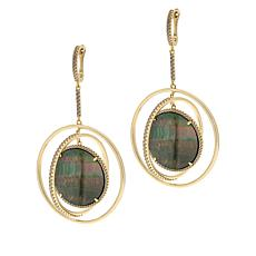 Cristina Sabatini Gold-Tone Multi-Gemstone Eclipse Earrings
