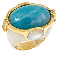 Cristina Sabatini Gold-Tone Sterling Silver Mystic Multi-Gemstone Ring