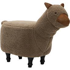 "Critter Sitters 14"" Plush Animal Ottoman - Llama"