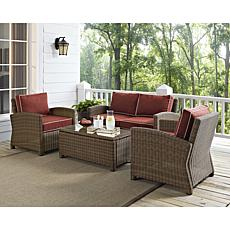 Crosley Bradenton 4pc Outdoor Wicker Set - Sangria