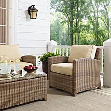 Crosley Bradenton Outdoor Wicker Arm Chair - Sand
