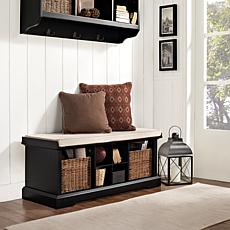 Crosley Brennan Entryway Storage Bench - Black