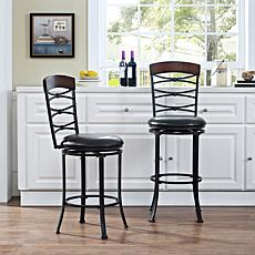 Crosley Furniture Highland Swivel Counter Stool - Black Gold/Brown