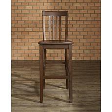 "Crosley Furniture School House 2-piece 30"" Bar Stool Set - Mahogany"