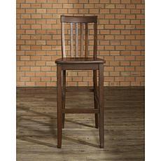 "Crosley Furniture School House 2-piece 30"" Bar Stool Set - Mahogany"