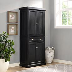 Crosley Furniture Seaside Kitchen Pantry - Distressed Black