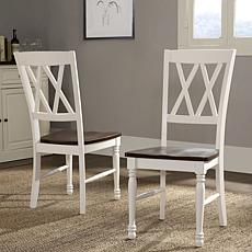 Crosley Furniture Shelby 2-piece Dining Chair Set - White
