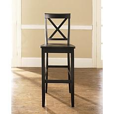 "Crosley Furniture X-Back 2-piece 30"" Bar Stool Set - Black"