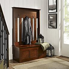 Crosley Ogden Entryway Hall Tree - Mahogany