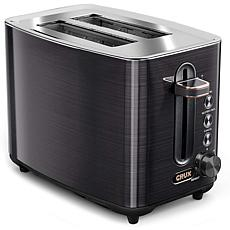 CRUX 2-Slice Toaster with 6 Setting Shade Control