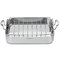 "Cuisinart MultiClad Pro 16"" Rectangular Roasting Pan"