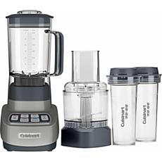 Cuisinart ReMixtrio Blender/Food Processor w/Travel Cups - Gun Metal
