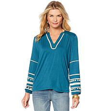 Curations Pompom Knit Top