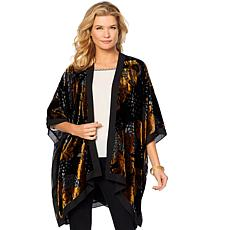 Curations Printed Burnout Velvet Wrap