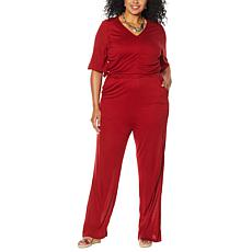 Curations Printed Knit Jumpsuit