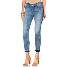 Curations Released Hem Studded Skinny Jean