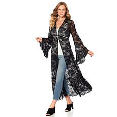 Curations Romantic Lace Bell-Sleeve Duster